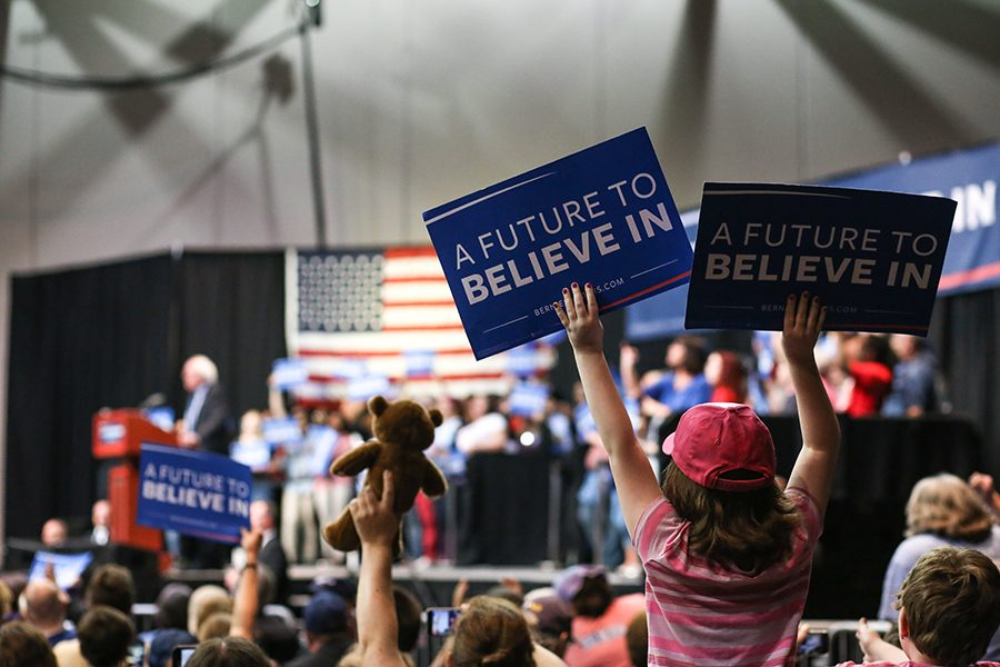 (GALLERY) Sanders Rally Downtown Evansville