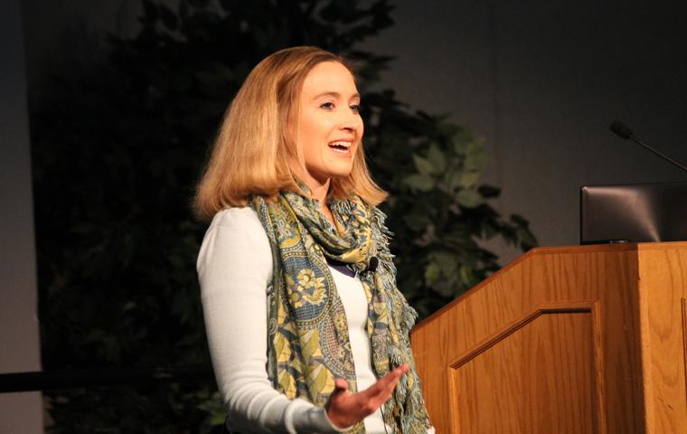 "Ellen Small Billard, co-founder and director of ""Road to Mafraq,"" talked about Syrian refugees during ""Wings for Dreams: The human face behind the Syrian refugee crisis."" 6 p.m. Monday."