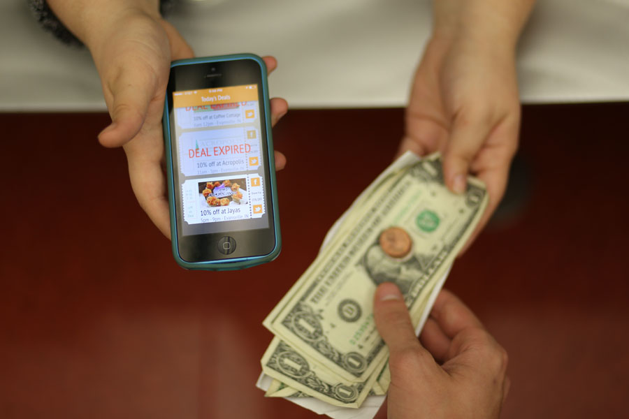 Dough Deals, a new app in which three Evansville restaurants each day provide users with coupon options for breakfast, lunch and dinner was co-founded by university alumn Bradley Davis in hopes of eliminating the problem of where to eat.