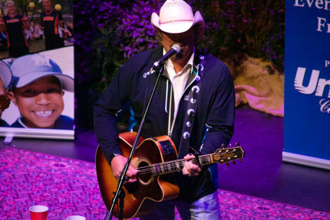 "Country artist Toby Keith performs at ""An Intimate Evening with Friends,"" a Don Mattingly charity event on Thursday night at the performance center. The event featured a speech from  Los Angeles Angels infielder Albert Pujols and a performance from Keith."