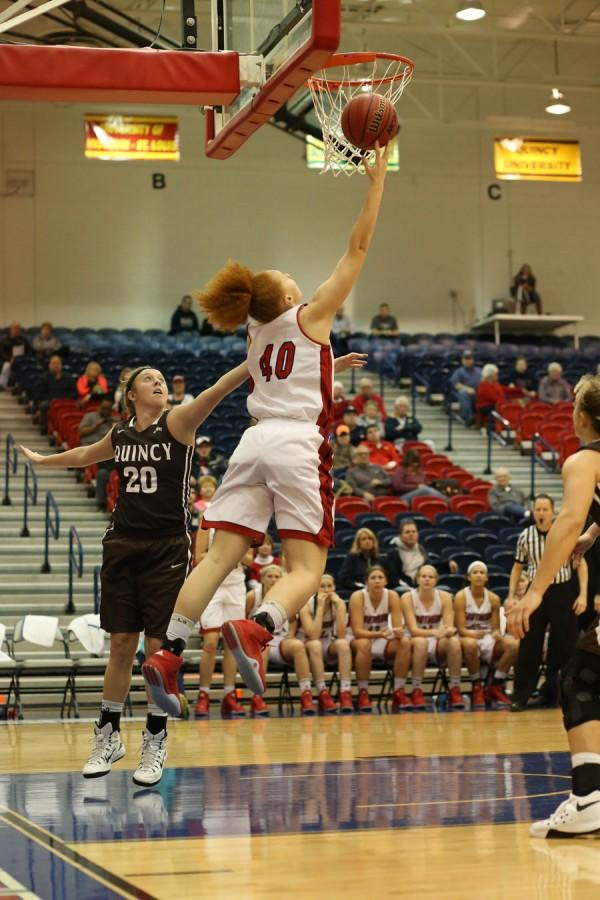 - Mikayla Rowan, a freshman forward/center, makes a layup during the second half of the game in the PAC Thursday.