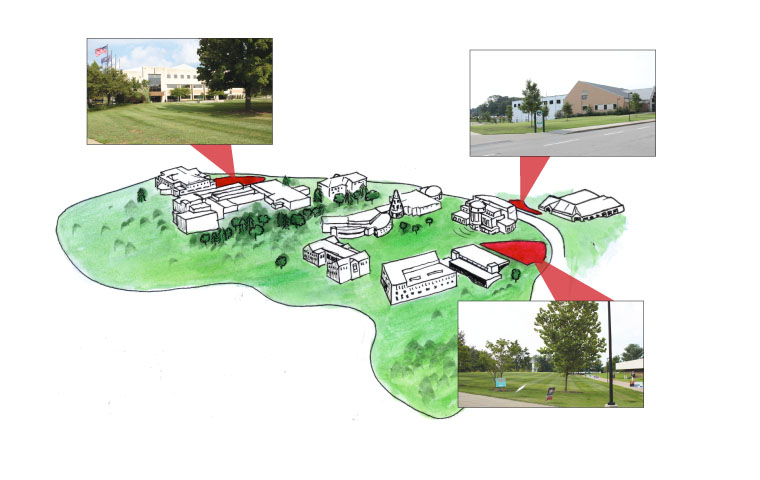 "The university has updated its policy regarding areas on campus which are designated for ""speech and expressive activities."" The locations are the lawn area south of Rice Library, the lawn area between the Physical Activities Center and the Recreation, Fitness and Wellness Center and the lawn in front of the Health Professions Building. The three areas combined are approximately 1.6 acres of the 1,400 acre campus"