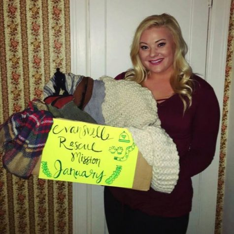 Senior criminal justice and sociology major Megan Gresham adopted 12 charities to benefit over 12 months as part of her Giving Graciously Campaign.