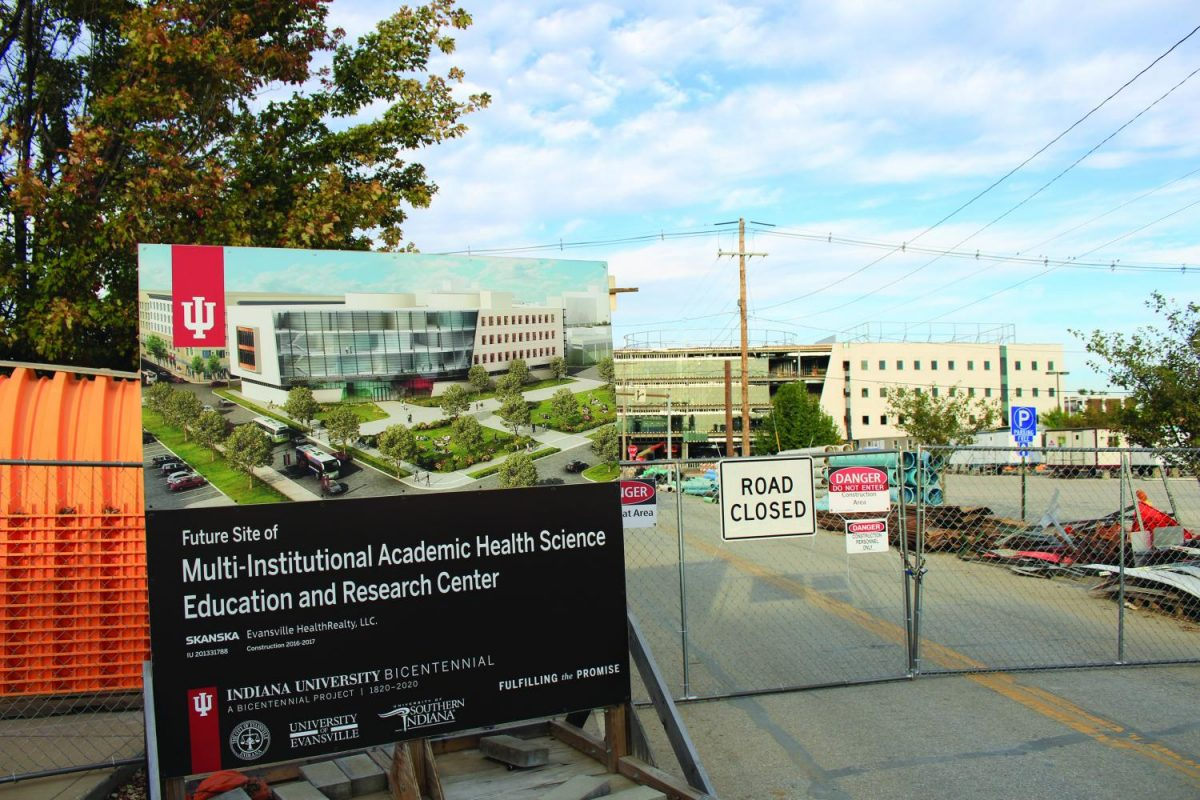 The final completion of the Evansville Health, Science, Education and Research Center is expected in May of 2018. Indiana University will own 60 percent of the building and the University of Evansville and USI will split the remaining 40 percent.