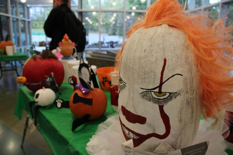Staff Council hosted the second annual pumpkin carving contest Friday afternoon. The pumpkins were displayed in the University Center Breezeway, allowing students and faculty to vote on their favorite one.