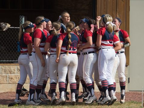 The university softball team in 2018 as they concluded their season.