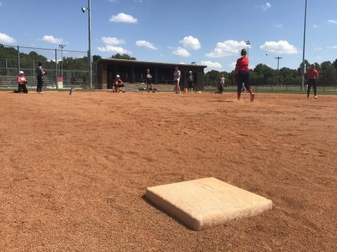 Student athletes with the University of Southern Indiana's Women's softball team practice at the Broadway Sports Complex, Aug. 28, 2018.