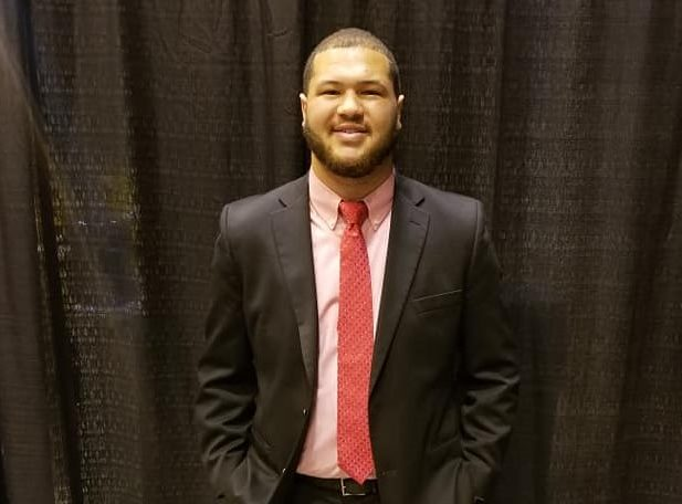 Javontay Moss, a junior communications major, attended the APRO National Convention in St. Louis to receive a scholarship.