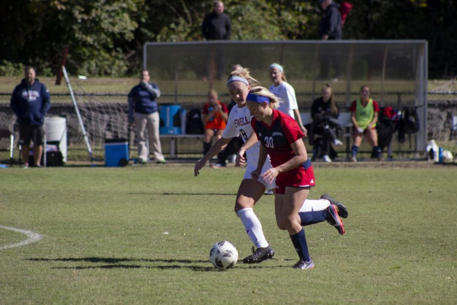 The women's soccer team played their last game Nov. 2. The team tied with Rockhurst University and went into double overtime, but failed to advance in the Great Lakes Valley Conference tournament due to penalty kicks.