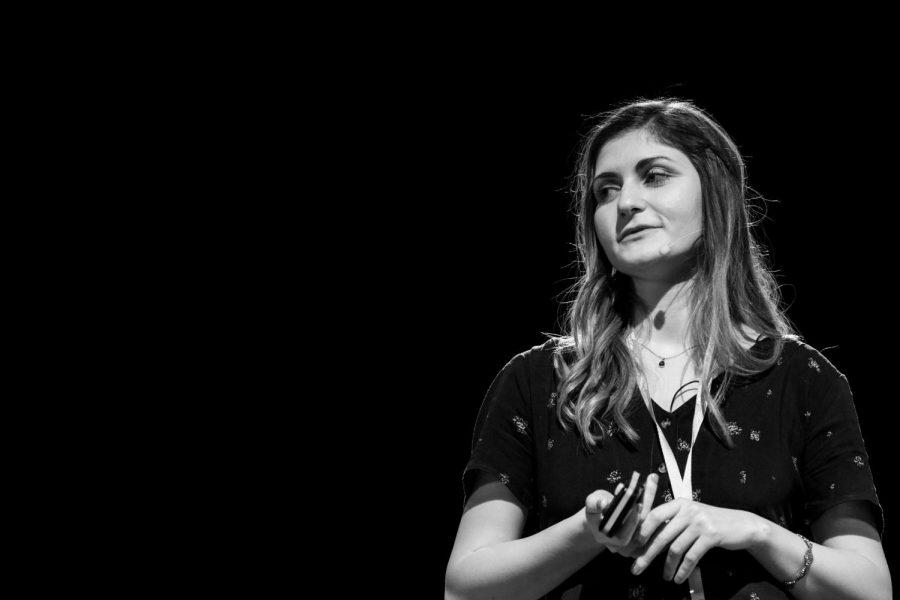 Salome Apkhazishvili talks gives a TEDx talk in Tbilisi, Georgia about the history of political cartoons.