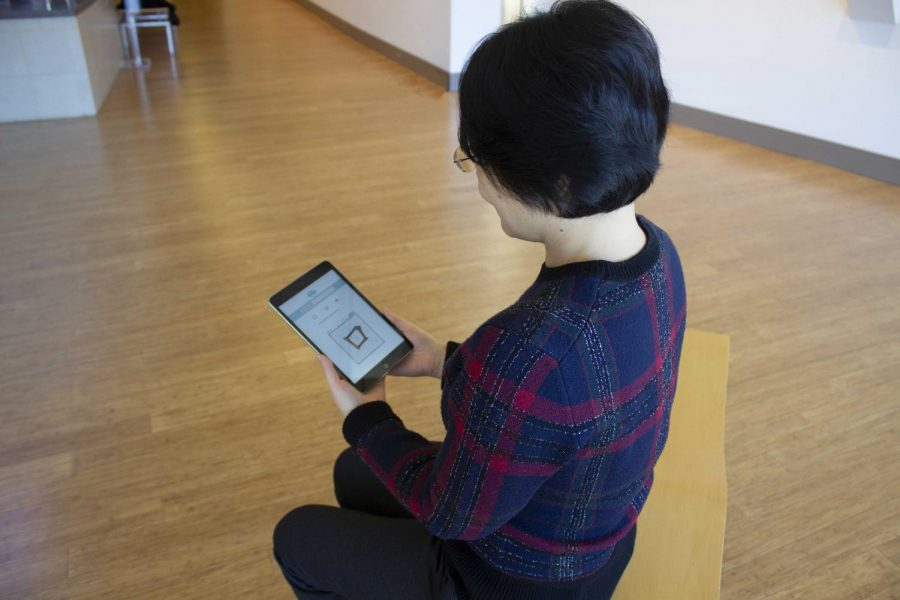 Associate Professor of Graphic Design Xinran Hu  plays with her app