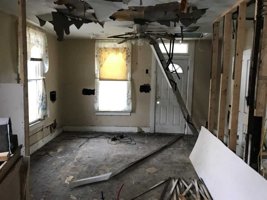 The abandoned home on Jefferson Street will be converted into an art installation before being torn down.