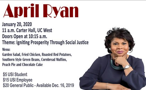 The 2019 Dr. Martin Luther King, Jr. Memorial Luncheon will feature White House Correspondent April Ryan.