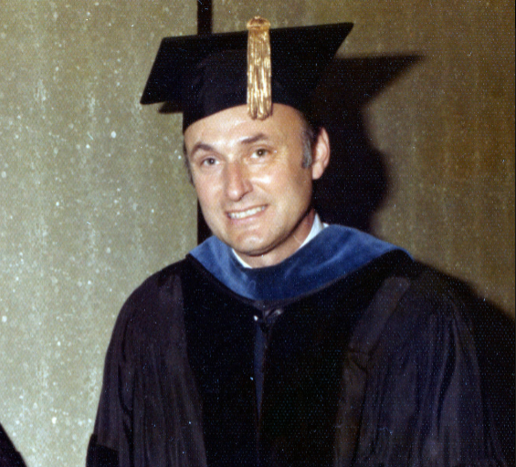 David Rice at an ISUE commencement in 1974.