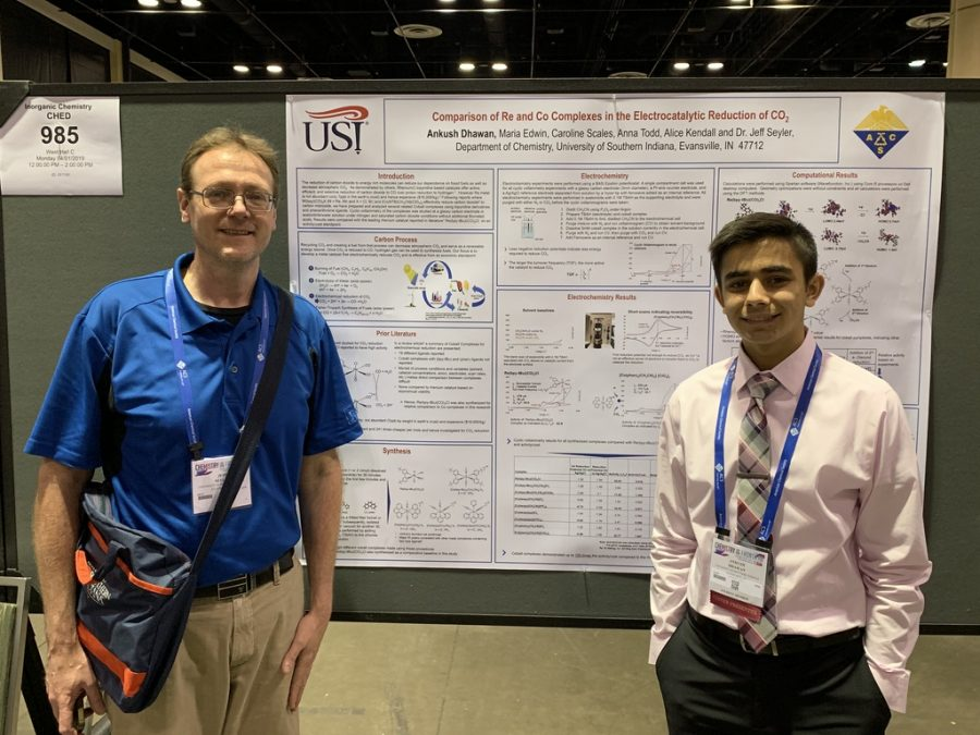 Signature+School+student+Ankush+Dhawan+%28right%29+was+mentored+by+Jeffery+Seyler+%28left%29%2C+a+professor+of+chemistry.
