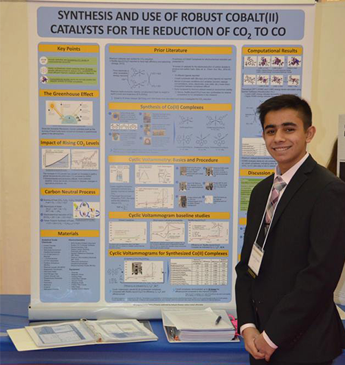 Signature School student Ankush Dhawan (pictured) was mentored by Jeffery Seyler, a professor of chemistry.