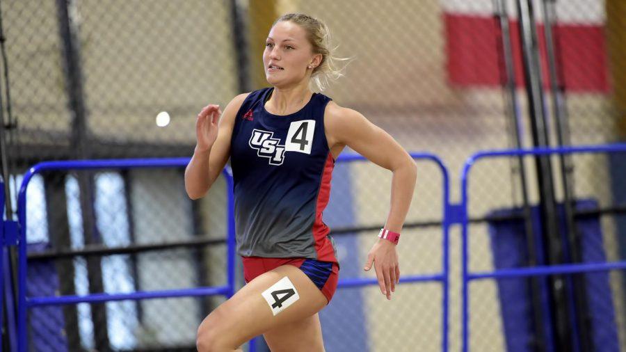 Freshman sprints past records