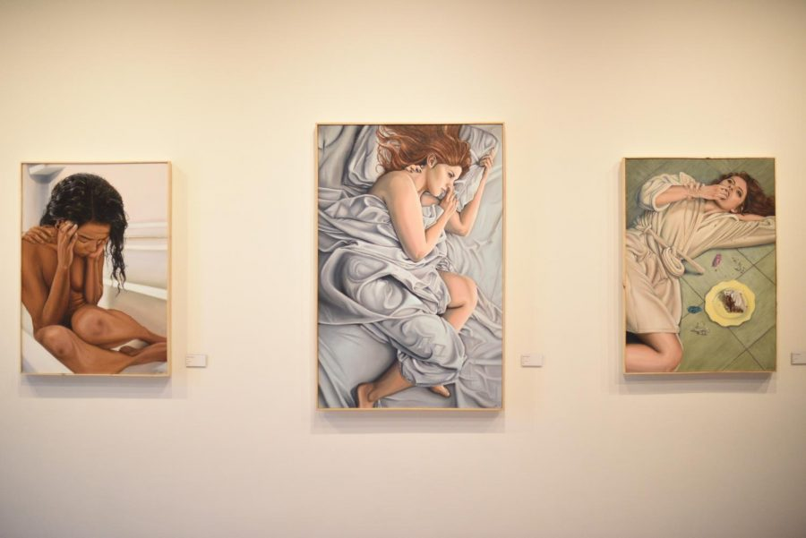 These three paintings are a part of a series called