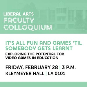 Crystal Steltenpohl will present the second Liberal Arts Colloquium lecture Feb. 28.