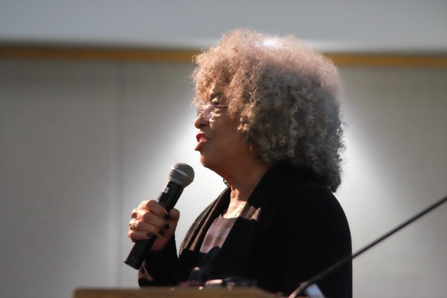 Activist Angela Davis spoke at the Mandela Social Justice Day event on Feb. 5 in Carter Hall.