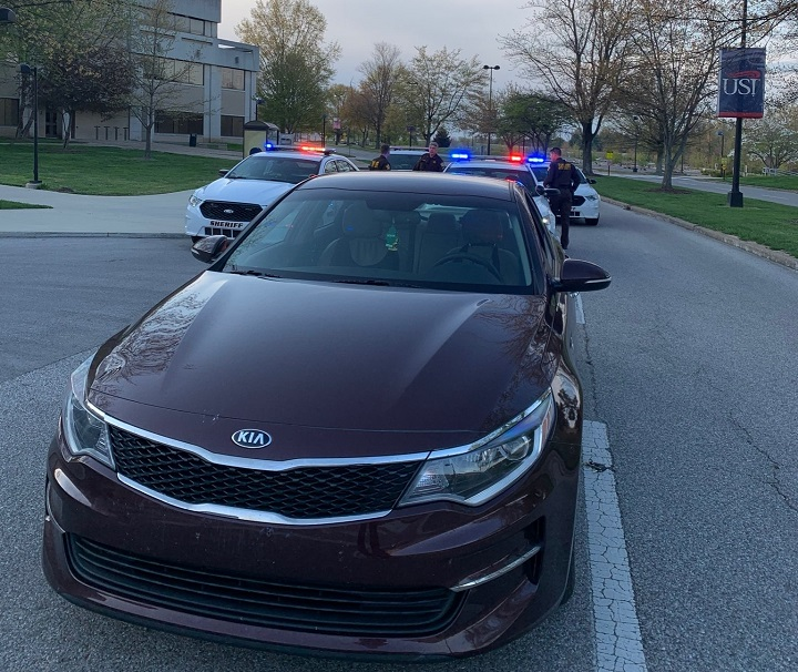 Reckless driver arrested on campus