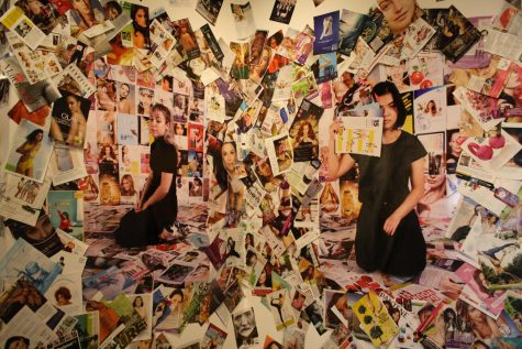 collage of magazines