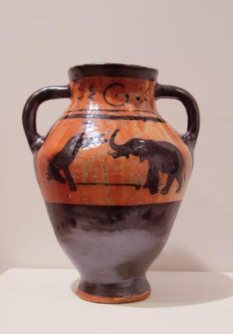 vase made by Ceramics 1 class.