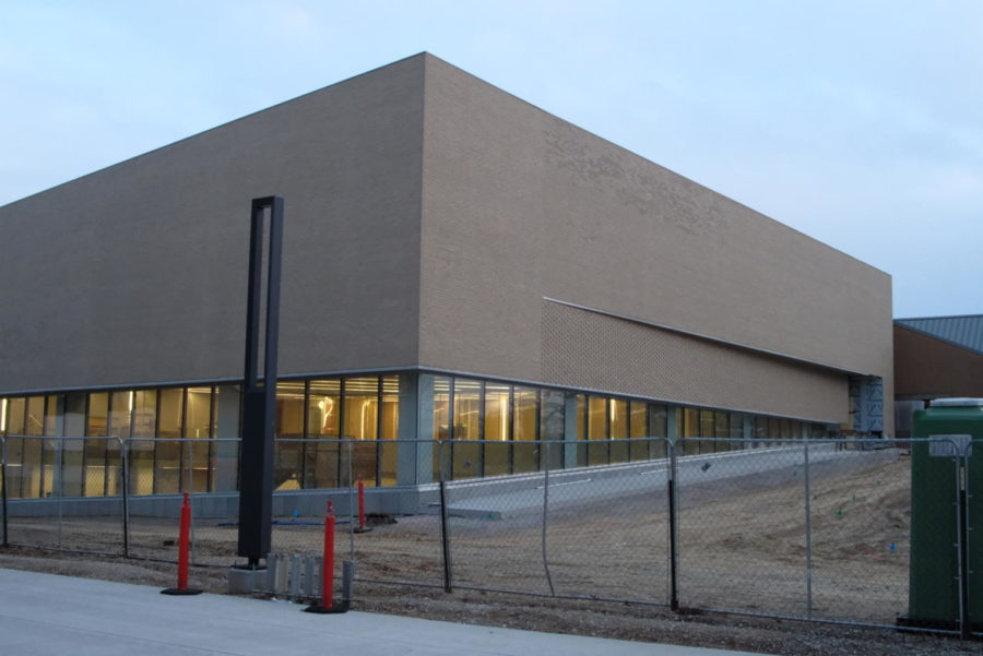 The new Aquatic Center located off University Boulevard. The building is set to open in the summer of 2021.