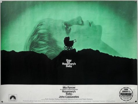 Promotional poster for Rosemarys Baby (1968).