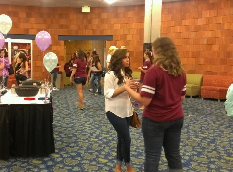 Women gather to learn about different sororities