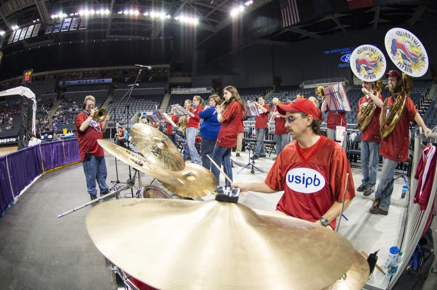 USI Pep Band shows school spirit at practice.