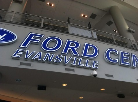 The Ford Center will host the GLVC men's and women's tournament in addition to the men's Division II Elite Eight in March. (FILE PHOTO/The Shield)