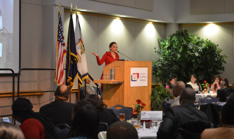 Actress uplifts crowd during MLK luncheon