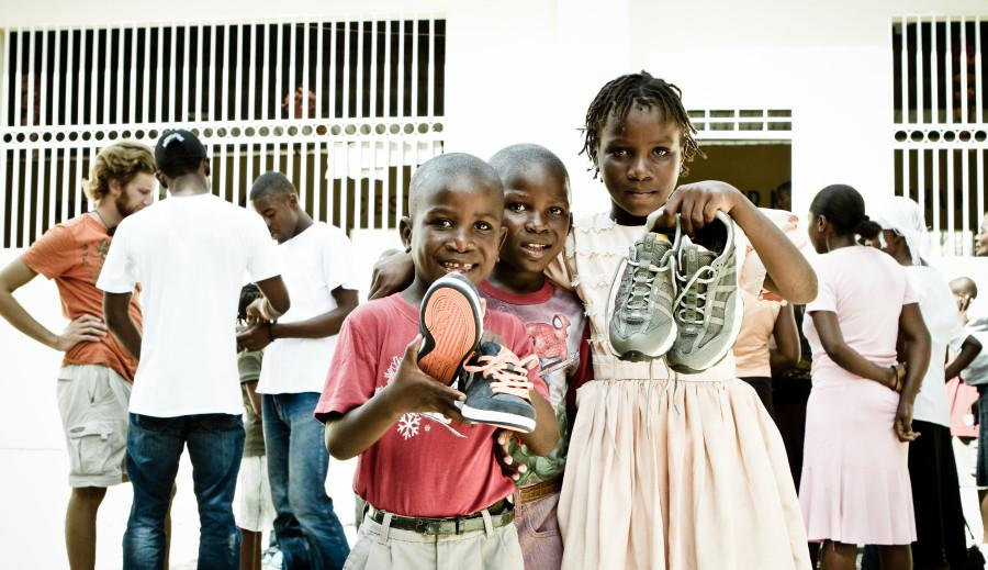Children benefit from donations.