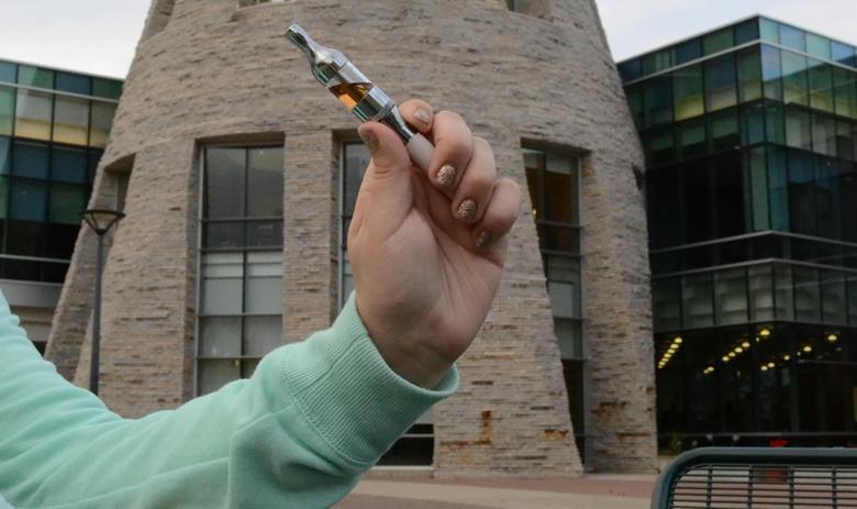 E-cigarettes smoke up campus despite policy