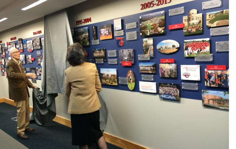 University unveils permanent 50-year timeline